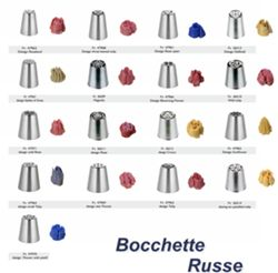 Bocchetta russa in acciaio inox - Design six petalled tulip